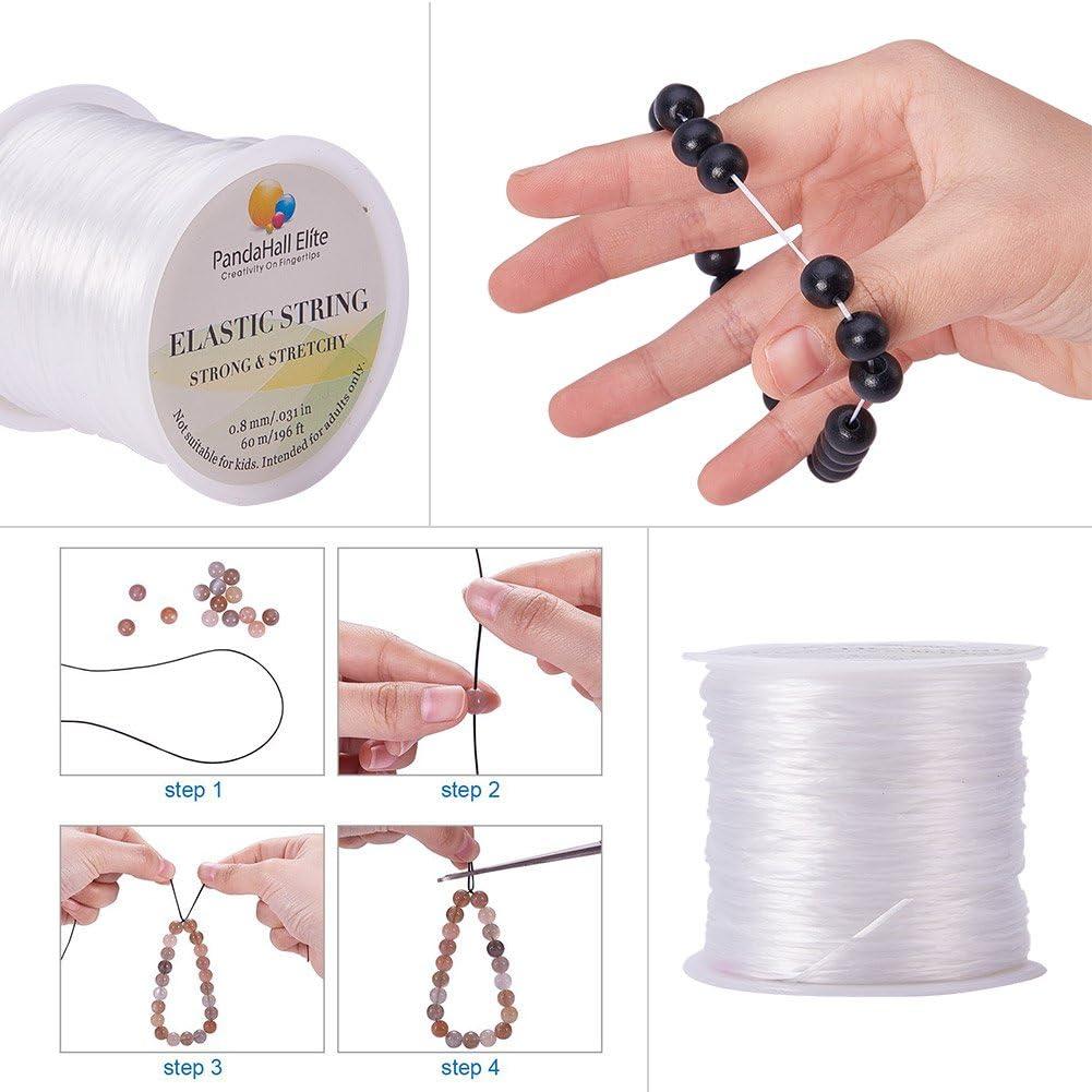 Eisen Big Eye Sicke Nadel Gemischte Farbe PandaHall Elite Elastic Fibre Wire und Sharp Steel Scissor Ramdon Farbe Kunststoff Bead Container