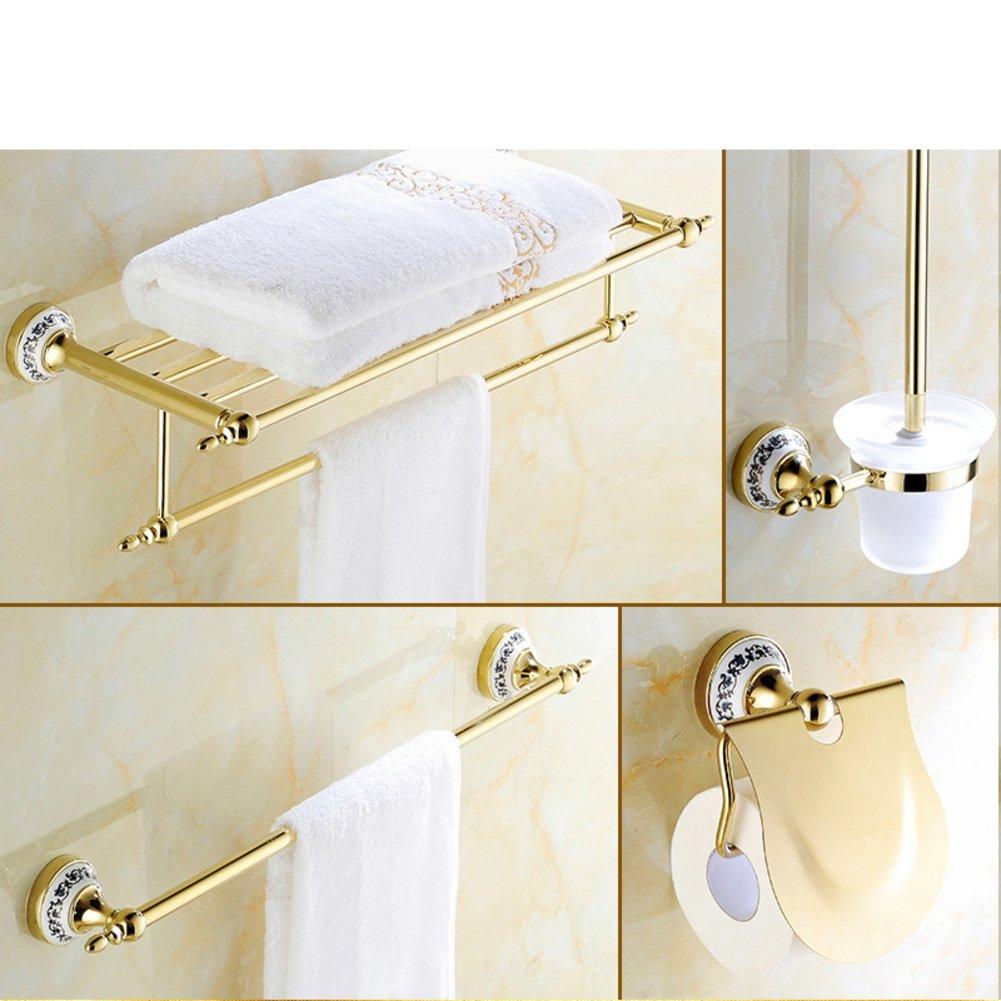 Durable Modeling Golden Towel Rack Gold Plated Stainless Steel European Style Towel Rack Toilet