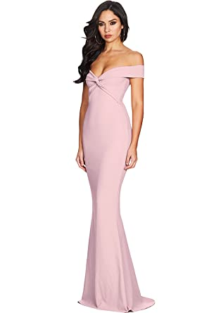 Alices Prom Womens Off The Shoulder Prom Dress Mermaid Evening Party Gowns 2018 J019 - Pink