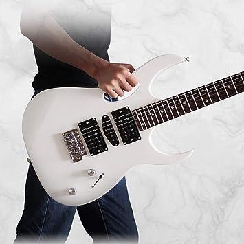 Miiliedy Rock Roll Blues Heavy Metal Música popular Guitarra eléctrica 24 trastes Práctica para principiantes Rendimiento