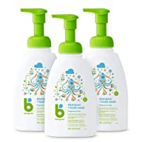 Babyganics Baby Shampoo + Body Wash Pump Bottle, Fragrance Free, 16oz, 3 Pack, Packaging...