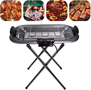 LXVY Outdoor Barbecue Foldable Family Gathering Barbecue, with Adjustable Temperature Control, Stainless Steel Folding Charcoal Picnic Grill