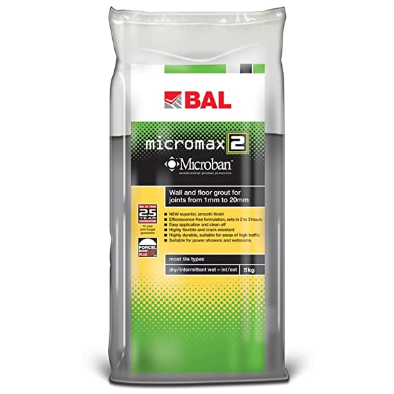 BAL Micromax2 Anti Mould/Bacteria Tile Grout For Walls