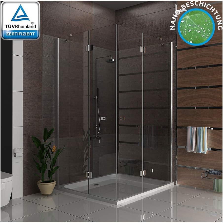 Mampara de ducha cabina ducha puerta oscilante esquina. Ducha 120 x 140 x 195 Incluye los arañazos de vidrio: Amazon.es: Bricolaje y herramientas