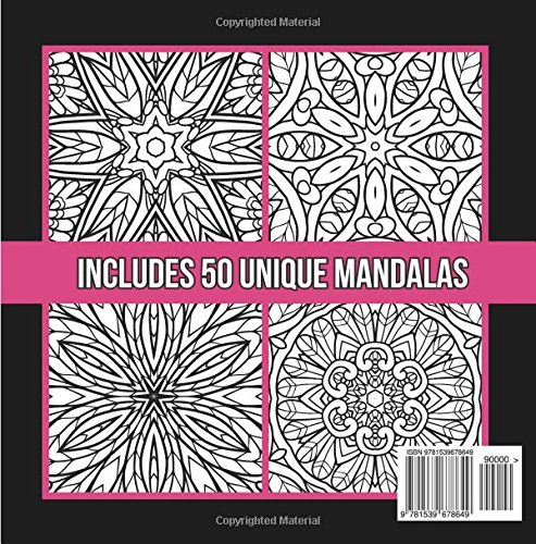 Amazon Keep Calm And Mandala On An Adult Coloring Book With 50 Wonderful Designs Stress Relieving Patterns For Relaxation