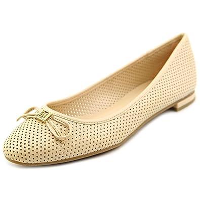 579b97eea4f130 Tommy Hilfiger Womens Mirella Leather Almond Toe Ballet Flats