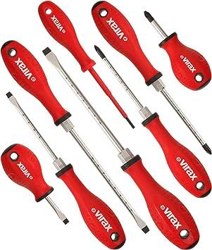 Juego de destornilladores magnéticos de 8 piezas en estuche de tela: Amazon.es: Bricolaje y herramientas