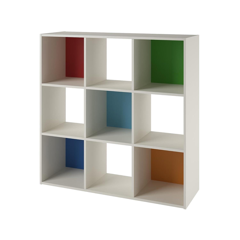 kids' bookcases cabinets  shelves  amazoncom - systembuild wink  cube storage bookcase whitemulticolor