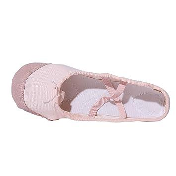 Alomejor Kinder Ballettschuhe Tanzschuhe Langlebige rutschfeste Weiche Canvas Slipper Schuhe