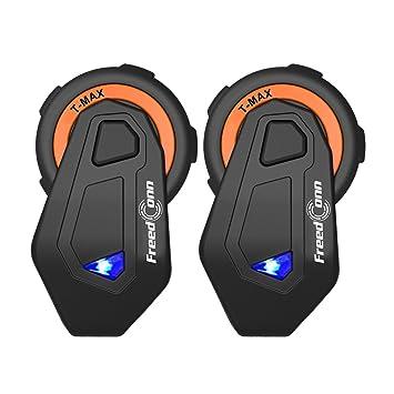 Freedconn BT Motorcycle Intercom Sistema de comunicación de motocicleta T-MAX Casco Interphone Manos libres
