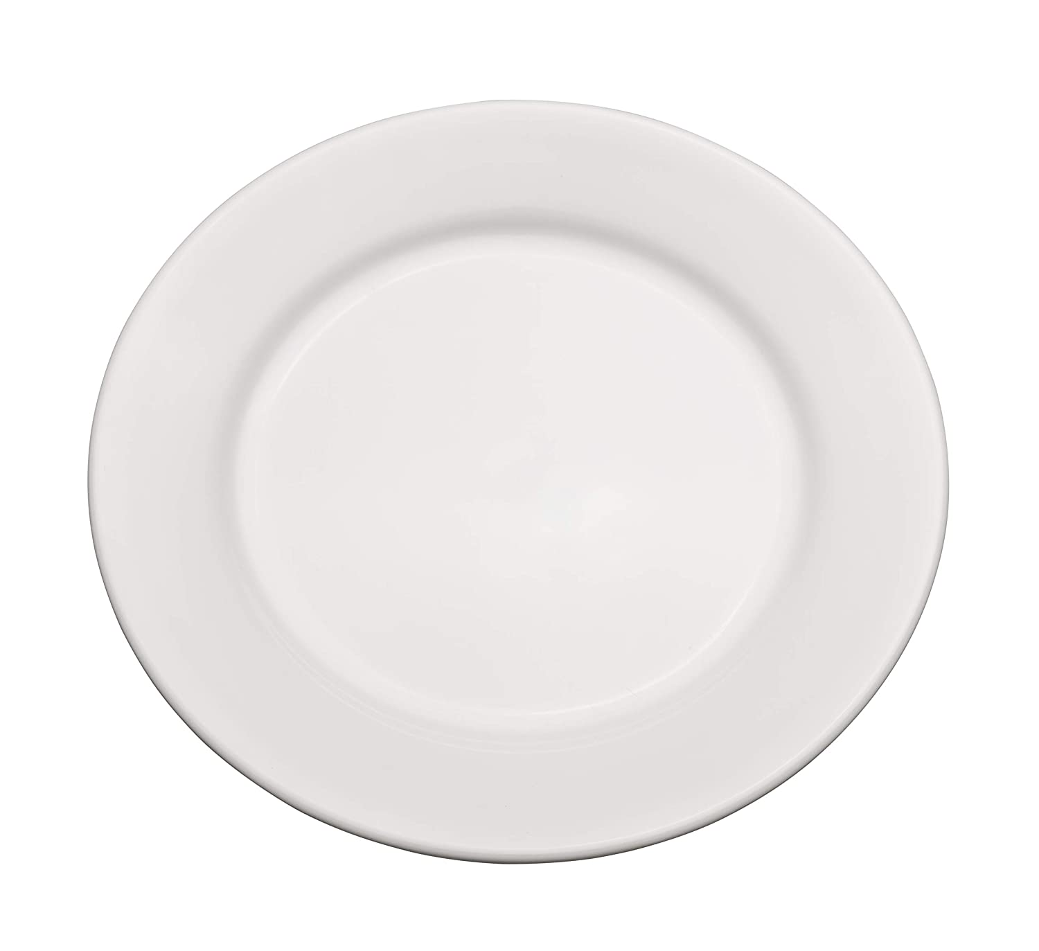 """Chef Expressions 7-1/2"""" Round Salad Plate, Restaurant Quality, Vitrified Bright White Porcelain, Wide Rim, Rolled Edge (Case of 12)"""