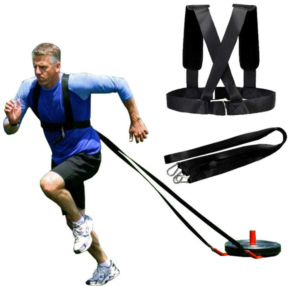 YNXing Sled Harness Workout Resistance and Assistance Trainer Physical Training Resistance Rope Kit Improving Speed…