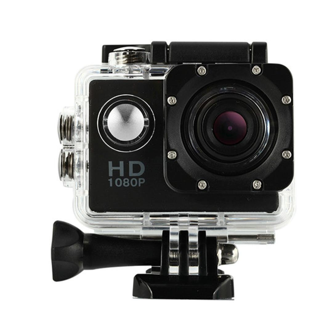 Bluestercool Actionkamera, 1080P Voll HD Mini Wasserdichte Sportkamera (Schwarz) Bluestercool-22GB3