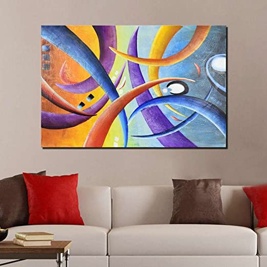 ARTLAND Hand-painted 24x36-inch 'The Daylight' Gallery-wrapped Canvas Abstract Wall Art