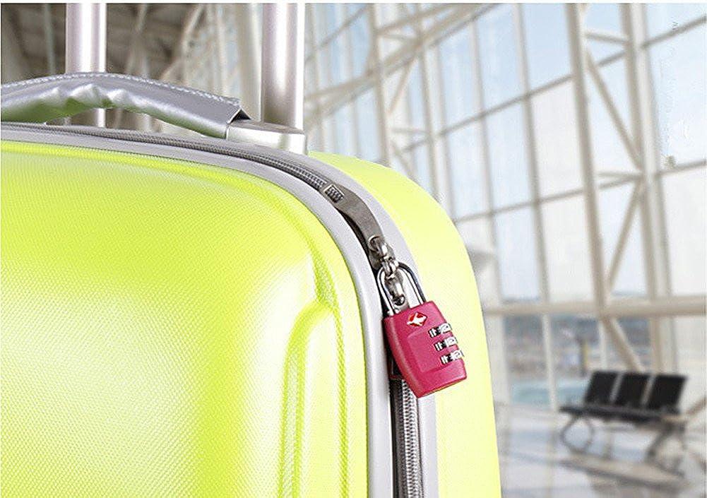 Green, 2pcs Jasit Mini TSA Approved 3 Digits Metal Combination Luggage Lock Coded Lock PB-2183