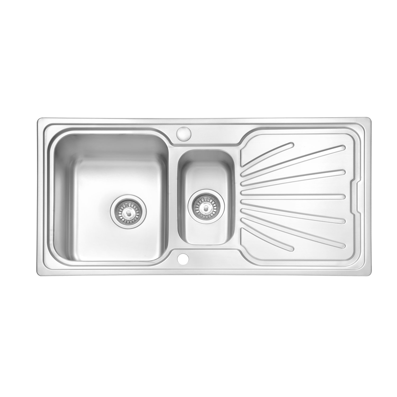 Jass ferry welding style stainless steel kitchen sink 1 5 one half square bowl reversible drainer with strainer waste 1000 x 500 mm 10 years warranty