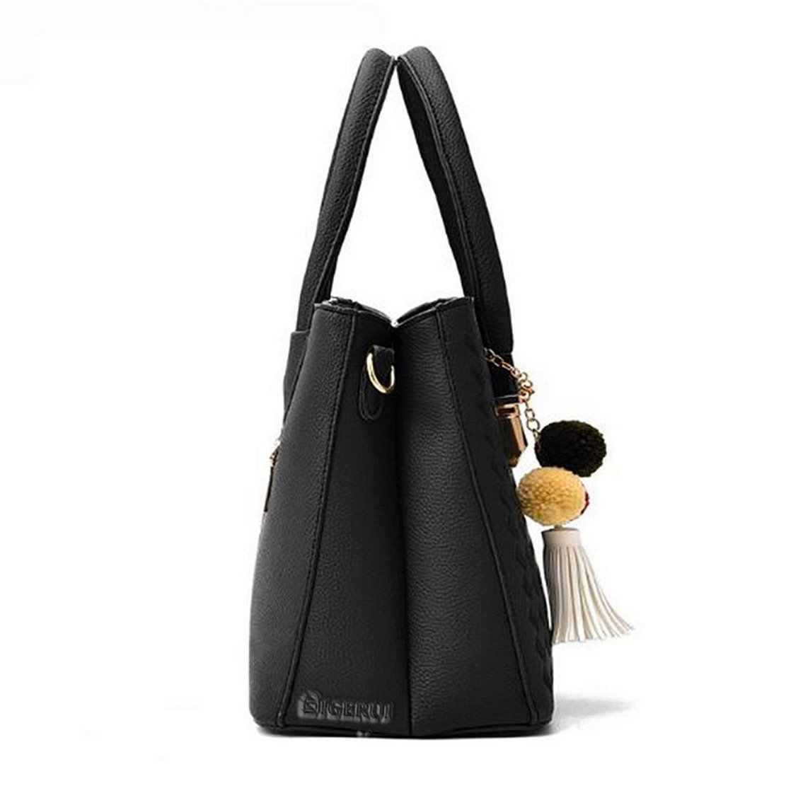 Handbags for Women,Tassel Pompom Top Handle Clutch Shoulder Bag Totes