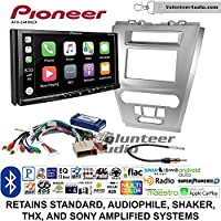 Volunteer Audio Pioneer AVH-2440NEX Double Din Radio Install Kit with Apple CarPlay, Android Auto and Bluetooth Fits 2010-2012 Fusion (Silver)