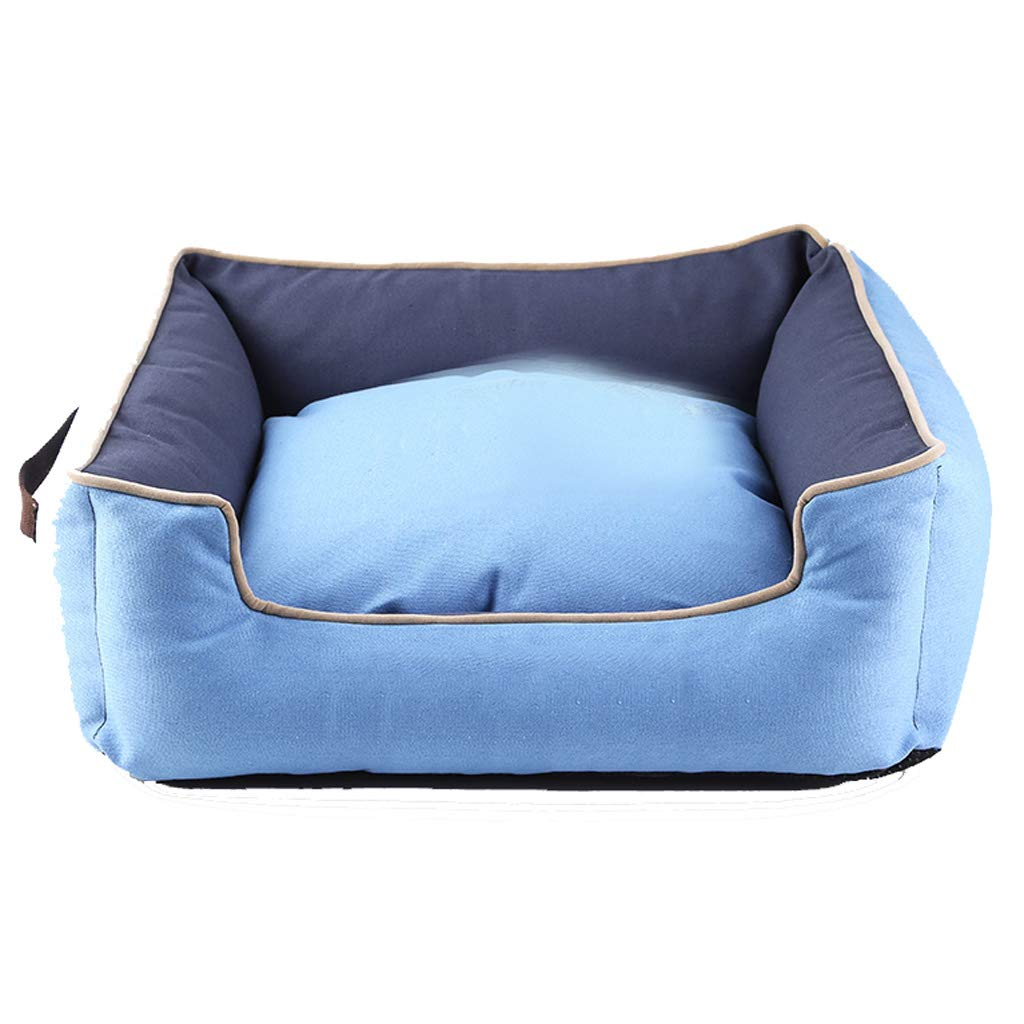 Pet Bed bluee Pet Nest Four Seasons Universal Removable And Washable Small And Medium Dogs Rebound Sponge Cat Litter Summer UOMUN