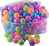 Play22 Ball Pit 200 Pack - Stripe Shape Blue, Red, Purple, Green, Orange and Yellow
