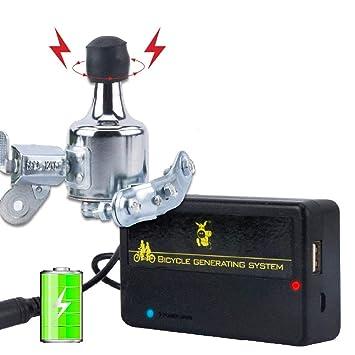 BEST4U Dinamo Bicicleta Batería Recargable USB Generador Kit de Cargador, Equipo de Equitación al Aire Libre, Portátil y Resistente al Agua – no se ...