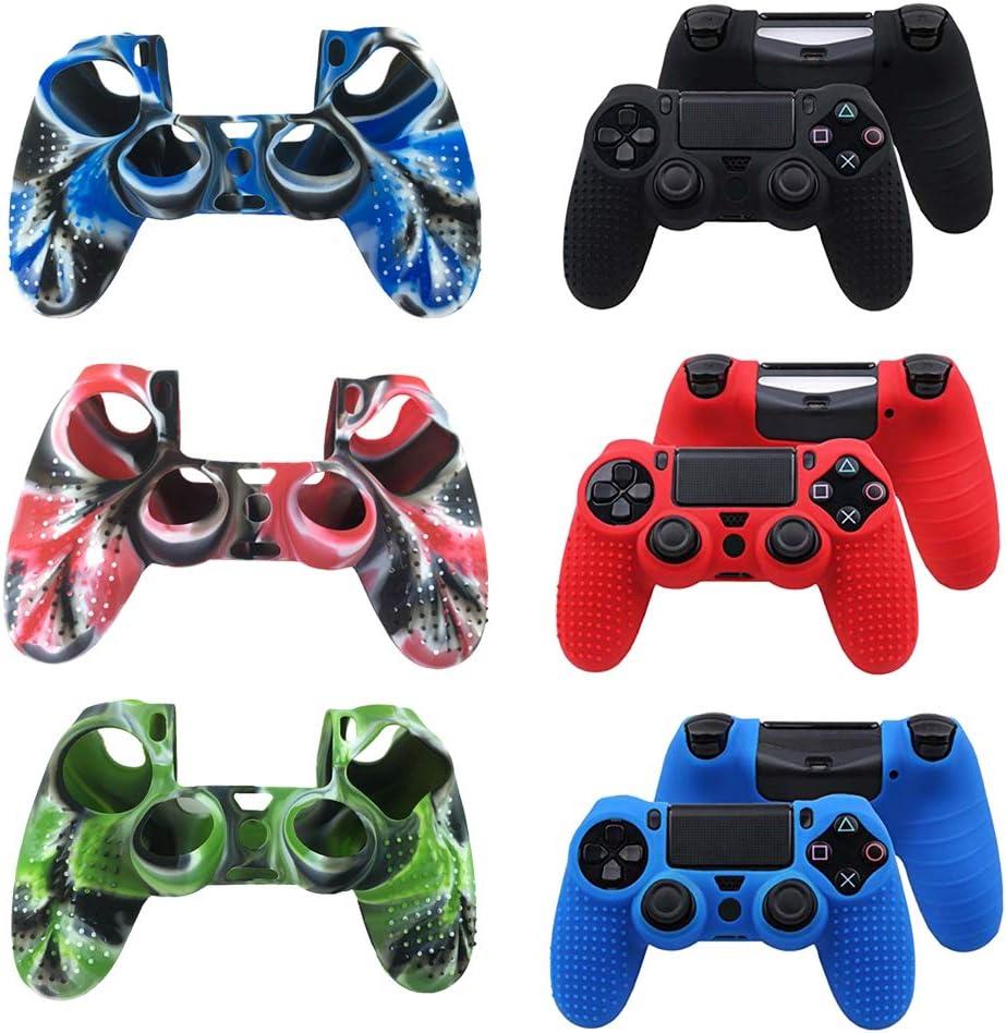 Amazon.com: Premium Silicone Protective Cover Case Slideproof Dustproof for PS4 /SLIM /PRO Controller Gamepad Joystick: Video Games