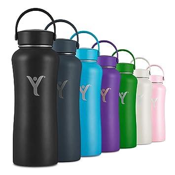 Amazon.com: DYLN Botella de agua aislada | 32 oz (32.1 fl oz ...