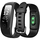 fbandz Full Touch Screen ID107 PLUS HR Heart rate Premium Fitness band Exercise Tracker Music Control Smart Band with Phone Call Alert