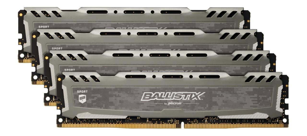 Ballistix Sport LT BLS8G4D240FSBK Memoria da 8 GB, DDR4, 2400 MT/s, PC4-19200, Single Rank x8, DIMM, 288-Pin, Grigio