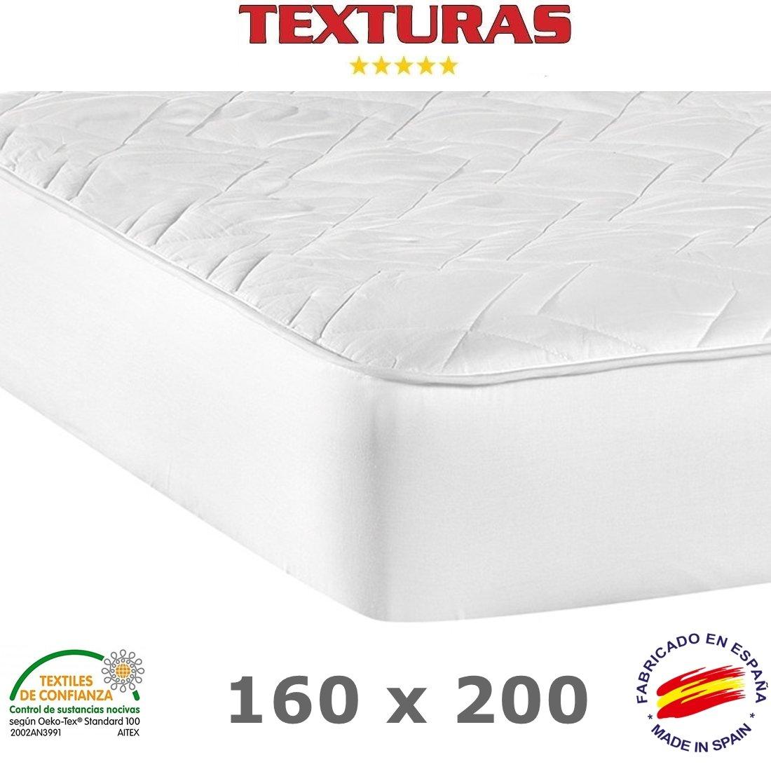 TEXTURAS BASICS - Protector de Colchón ACOLCHADO de microfibra para Hotel y Apartamentos ECONOMY (Varios tamaños disponibles)  (200_x_200_cm): Amazon.es: ...