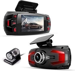 "Dual Lens car dvr Dash Cam,1080p Car Dashboard Camera 2.7"" LCD 170 Degree with Rear Dashcam Video Recorder"