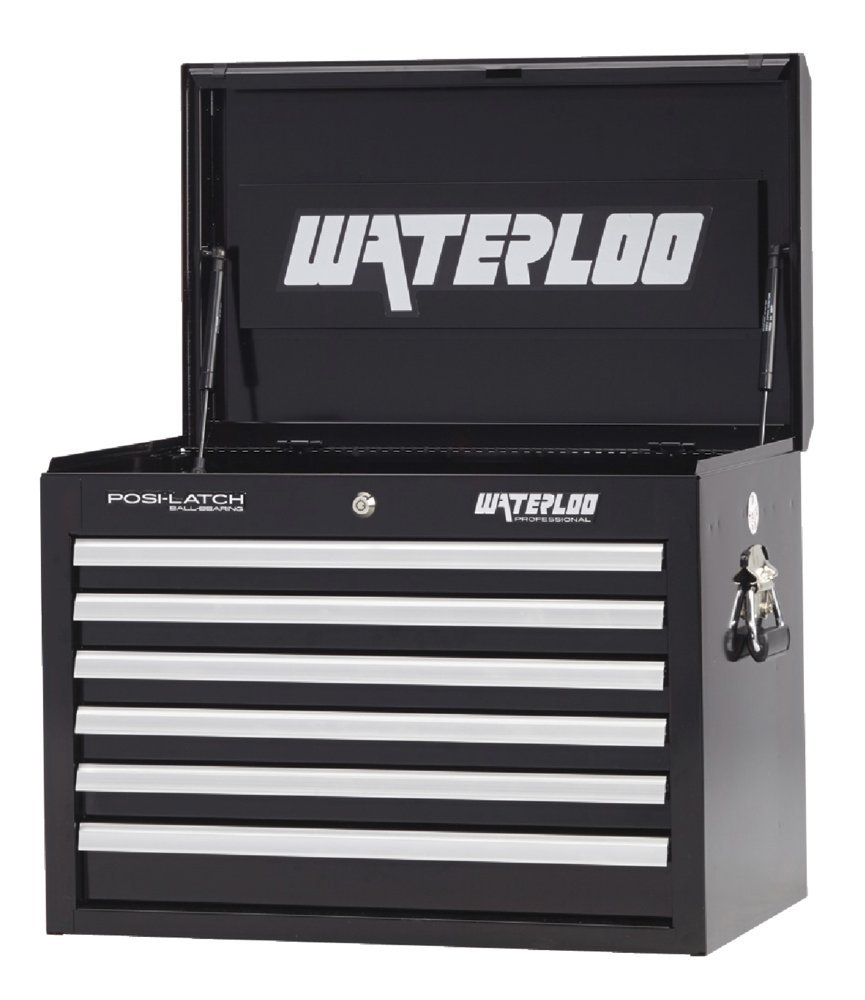 Waterloo Professional Series 6-Drawer Tool Chest with Internal Tubular Keyed Locking System, Black Finish, 26'' W by Waterloo (Image #1)
