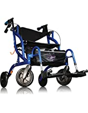 Airgo Fusion Standard Height Side-Folding Rollator Walker & Transport Chair Colour - Pacific Blue