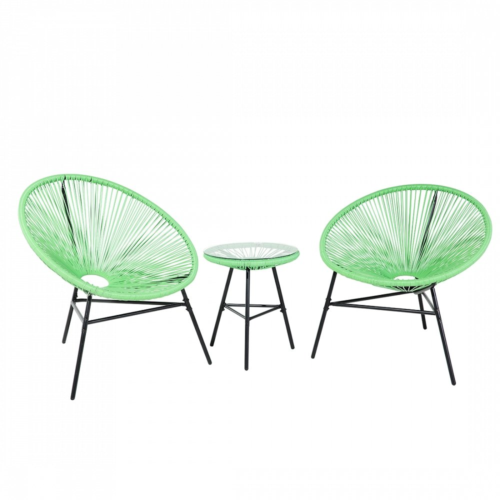 Gartenmöbel Grün - Balkonmöbel - Terrassenmöbel - Tisch mit 2 ...