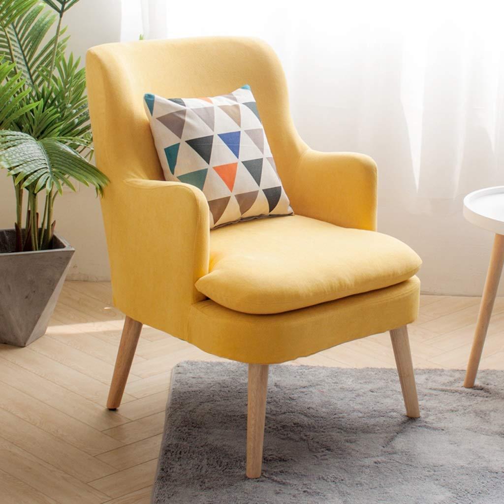 ソファチェアダイニングテーブルダイニングチェアカフェバー寝室リビングルームレジャーチェアドレッシングテーブルロッカールームデスクチェアビジネスレセプションチェア木材 (Color : Yellow) B07SZCXVGG Yellow