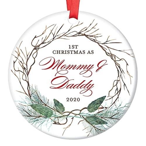 Dad Christmas 2020 Amazon.com: New Mommy & Daddy Ornament Christmas 2020 Baby Shower