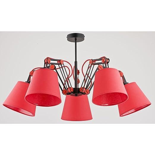 ALFA Anakin Rojo 5 Lámpara de Techo Candelabro iluminación ...