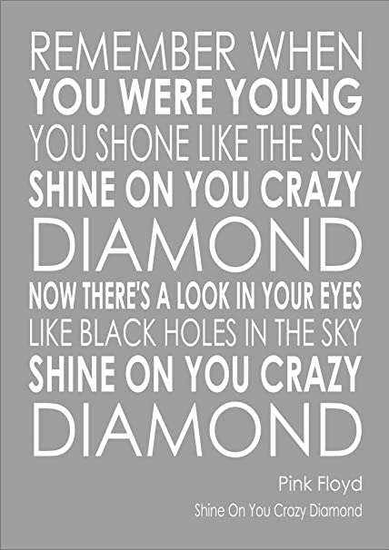 I am selling the lyrics to Shine On You Crazy Diamond - Pink Floyd - Various 92935329b