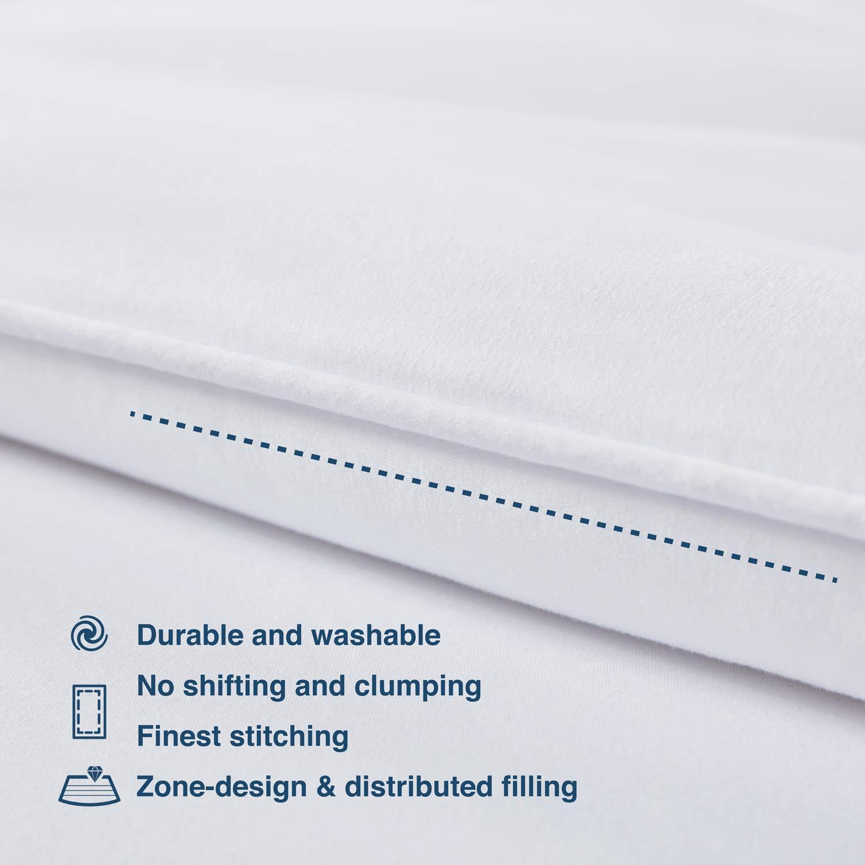 SLEEP ZONE All Season Comforter Down Alternative Soft Cooling Reversible Duvet NavyBlue+Gray Twin