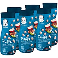 6-Pack Gerber Graduates Puffs Cereal Snack, 1.48 Ounce