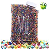 Water Beads Rainbow Mix Pearl Shaped Crystal Soil Jelly Water Growing Balls for Orbeez Refill,Kids Tactile Toys,Sensory Toys,Vase Fillerr,Plants Craft,Party,Home Decoration,20000pcs/Pack (Mixcolor)