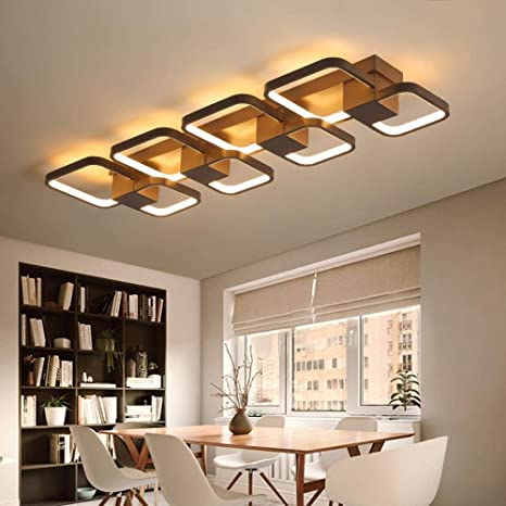 LED rectángulo luces de techo modernas para el dormitorio ...