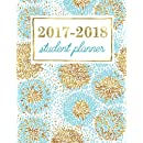 Student Planner: Weekly Academic Organizer: Turquoise & Gold Flower Blooms (Planners & Organizers for High School, College & University Students) (Volume 5)