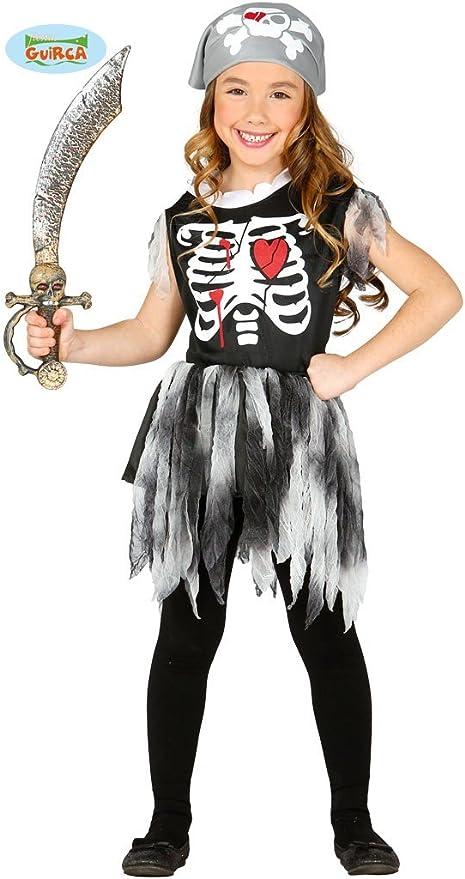 Disfraz de Pirata esqueleto infantil talla 10-12 años: Amazon.es ...