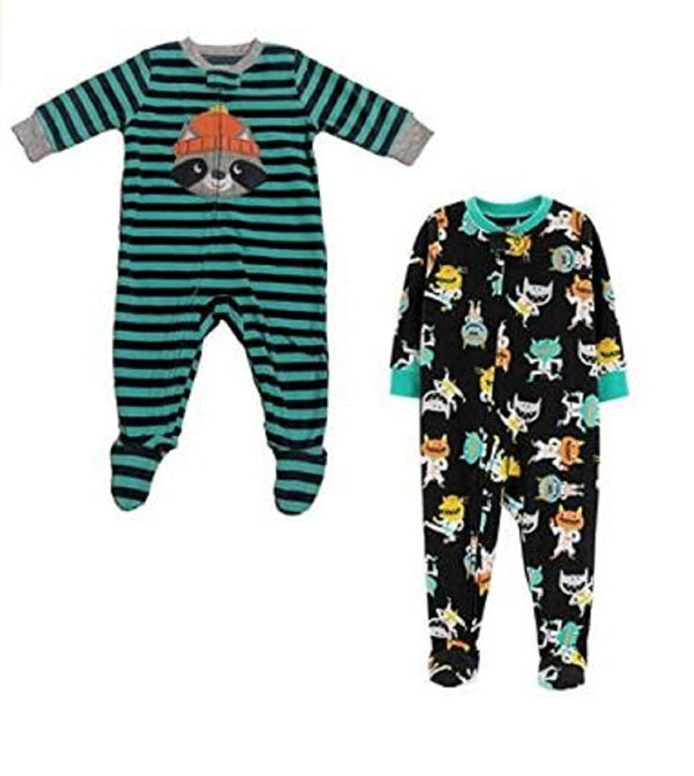 Carters Baby and Toddler Boys 2-Pack Fleece Footed Pajamas