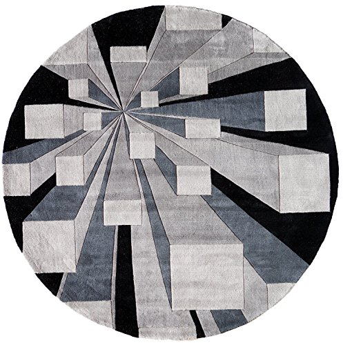 - Momeni Rugs NEWWANW128GOT590R New Wave Collection, 100% Wool Hand Carved & Tufted Contemporary Area Rug, 5'9