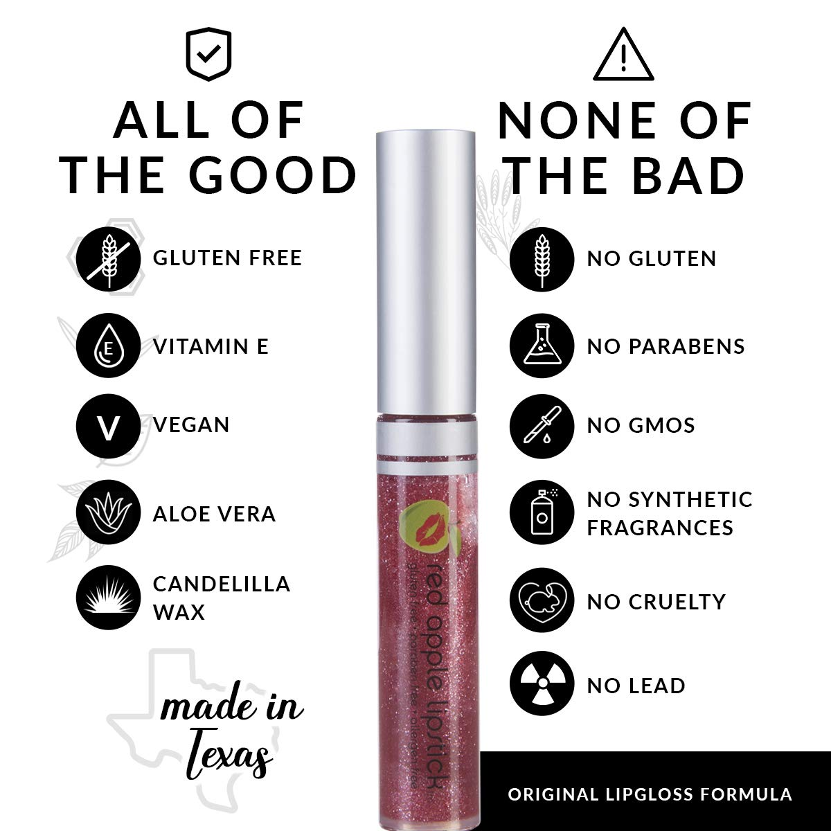 a52ee24ac0c Ruby Glass Gluten Free Lip Gloss by Red Apple Lipstick  Amazon.co.uk  Beauty