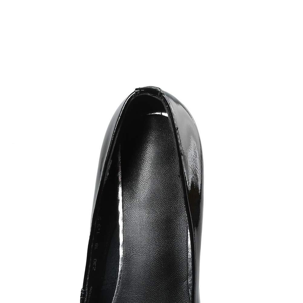 Aimint ERR00172, Damen Durchgängies Plateau Sandalen mit Keilabsatz, - Schwarz - Schwarz - Keilabsatz, Größe  36 aad9c9