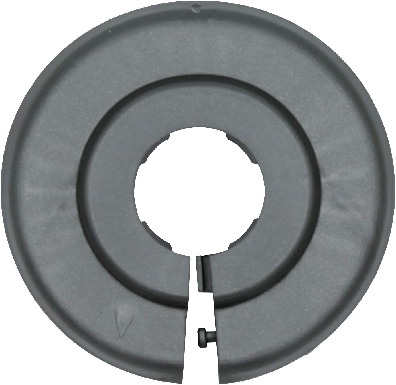 22mm Polypropylen in Sonderfarben 10 St/ück Einzel-Rosetten f/ür Heizungsrohre in tiefschwarz 18mm Heizung 15mm 15mm, RAL 9005 RAL 9005 Abdeckung f/ür Heizungsrohre