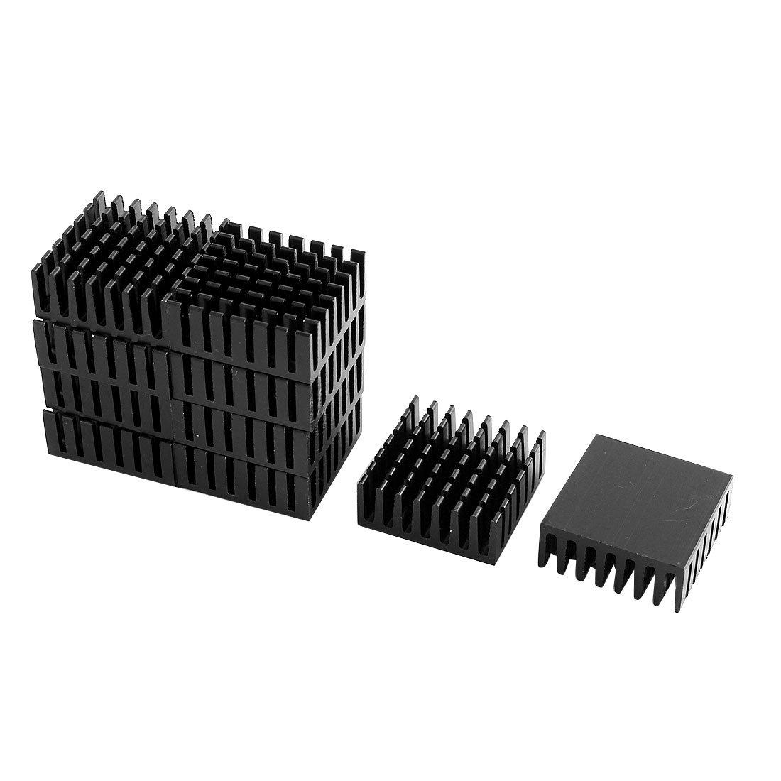 Sourcingmap 10Pcs Aluminum Cooling Fin CPU Dissipate Chip Heat Radiate a15071600ux0635
